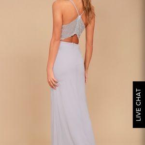 Lulus backless lace maxi dress